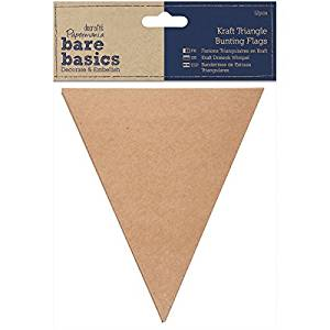 docrafts Papermania Bare Basics Bunting/Pennant Flags Kraft Triangle by DOCrafts