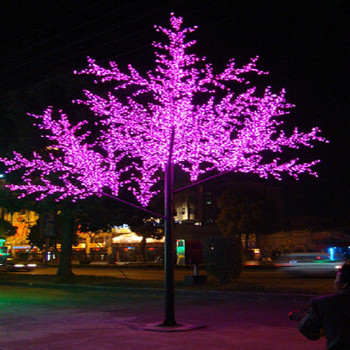 Artificial Outdoor Decoration Simulation LED Tree Projection Light
