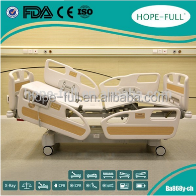 Wholesale High Quality one-key CPR Function Hospital Healthcare electric bed