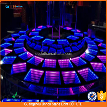 DMX 3D mirror dance floor for wedding 3d flooring