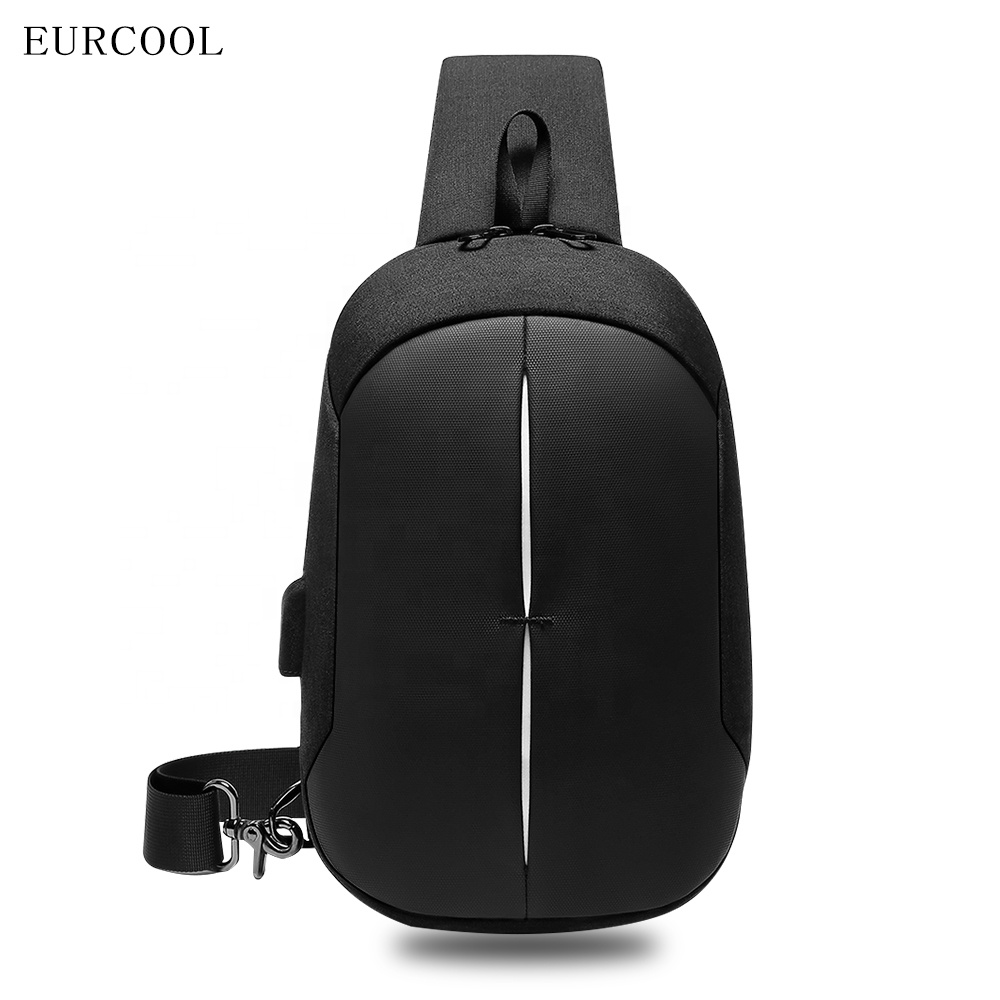 2019 Eucrool new style custom ulzzang fashion single anti theft man cross body messenger chest bag for college students outdoor
