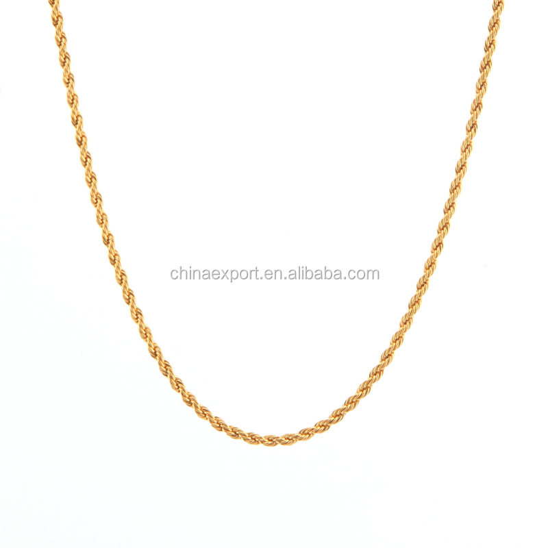 Gold Plated Bead Connector Necklace Chain With 5cm Extender