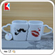 china supplier heart shape ceramic couple coffee mug cup