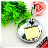 high class shiny siver hot selling promotional office multifunctional magnet memo desk pen