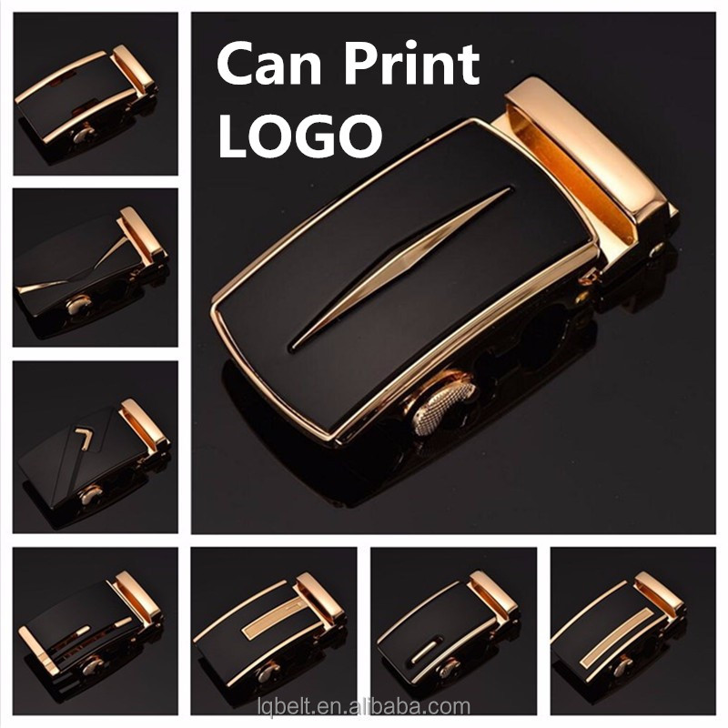 Gold Silver belt <strong>buckle</strong> can make logo customized Men's automatic <strong>buckles</strong> factory wholesale more style