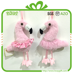 Hanging decorations 10 inch Hawaiian color decorative flamingo children's baby doll stuffed animals party decoration wedding