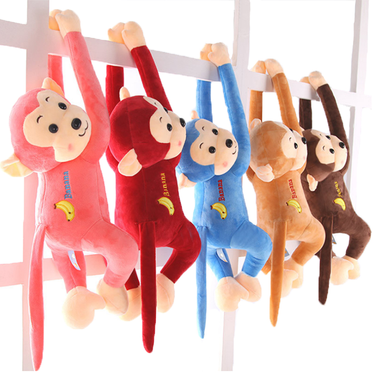 long arms and legs monkey plush toy plush hanging monkey with Factory Direct Sale Children Soft MonkeyCE standard custom monkey