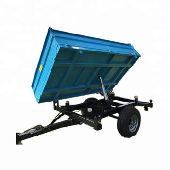 Tractor tipper 3 way hydraulic tipping trailer for sale; Agriculture hydraulic side tip box trailer