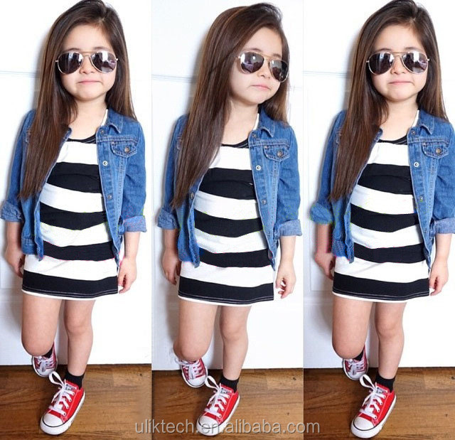 2015 Autumn Fashion Design Girls Fancy Jeans Coat For 2-8 Years ...