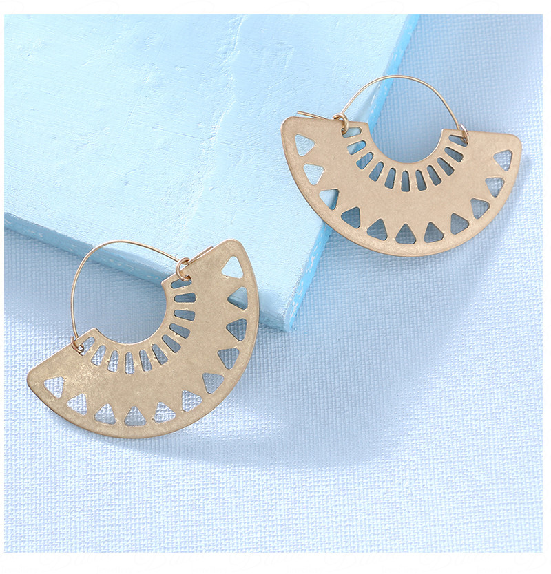 HTB12.X gSfD8KJjSszhq6zIJFXay - Badu Big Hollow Hoop Earring Semi-circle Vintage Declaration Ethnic Earrings Geometry Fashion Jewelry Punk Girl