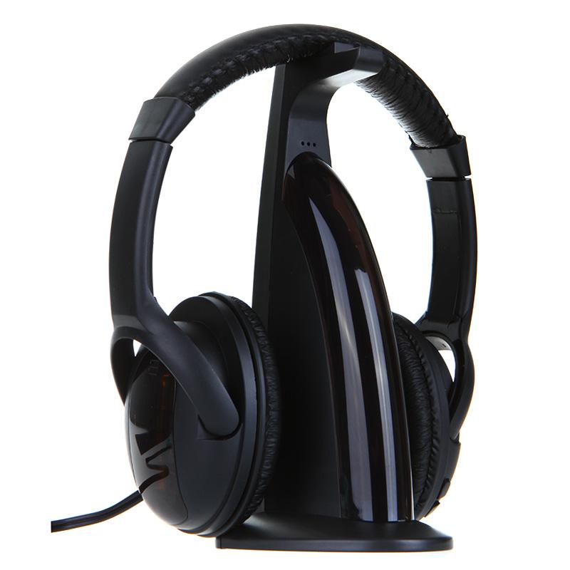 5 в 1 HiFi беспроводные наушники Hi - Fi гарнитура wifi-монитор FM радио MP3 пк TV аудио телефоны