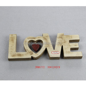 decorative wooden love words