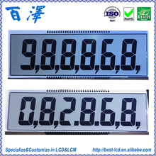 Factory Manufacture Custom Monochrome 7 Segment 4, 5, 6 Digits TN LCD Display