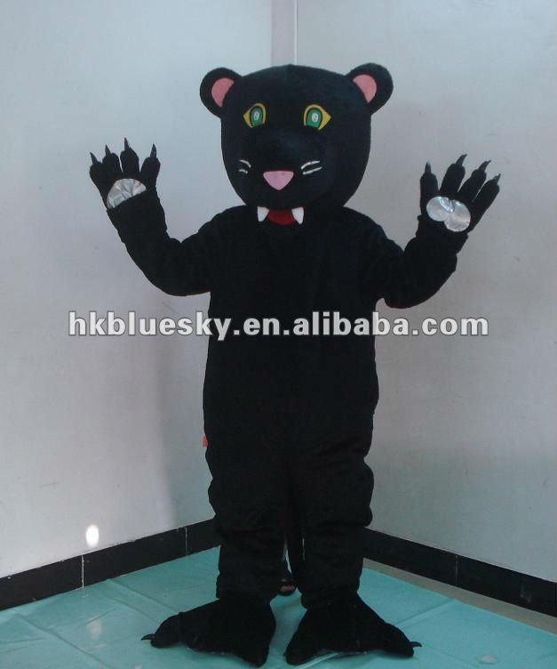 2014 Panther mascot costume for adults