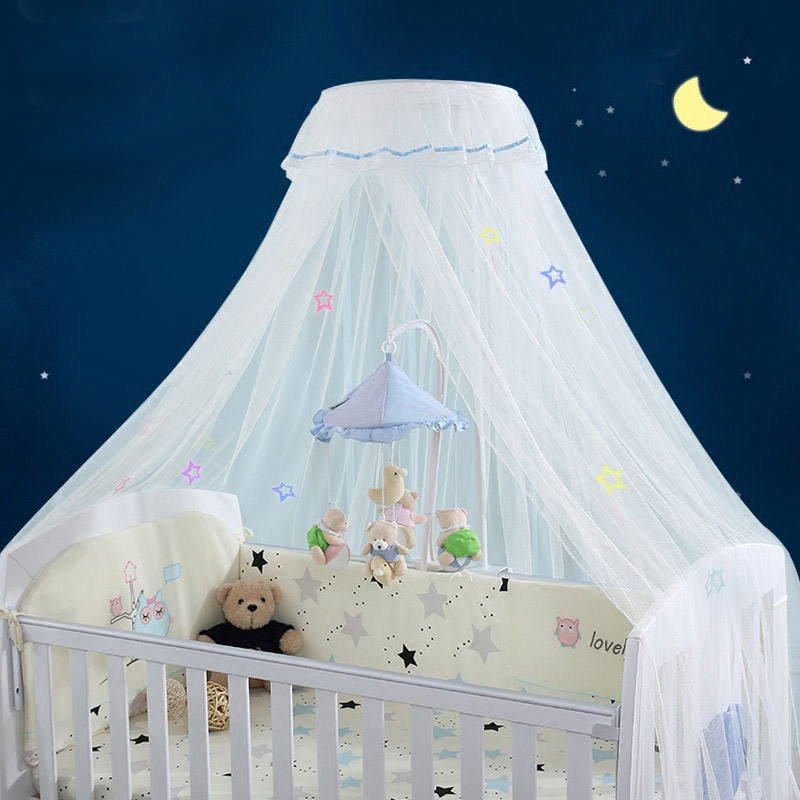 43.3 X 25.6 X 23.6 3 Colors Baby Pop Up Net Tent Foldable Mosquito Mesh Cover Newborn Dome Canopy Yurt For Cot Crib Cradles Bed