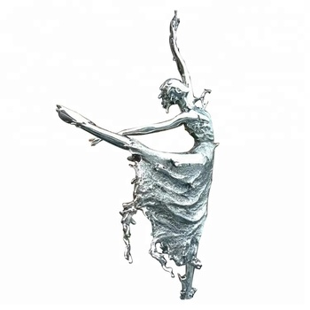 Customized girl sexy dancing abstract statue metal ballet dancer outdoor sculpture