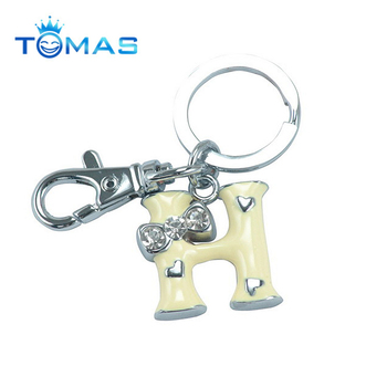 Hot Selling Simple C Shape Personalized Letter Keychain Buy