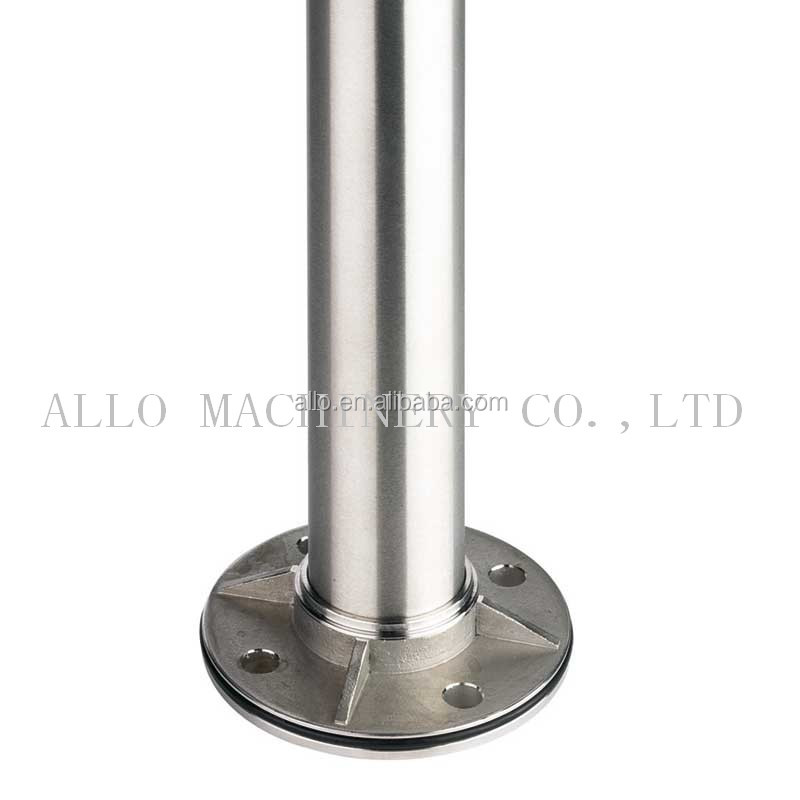Stainless Steel welded Pipe bottom wall flange for glue connection
