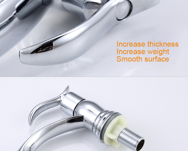 Chinese Factory Chrome Plated Wash Hand Basin Tap Cold Water Faucet