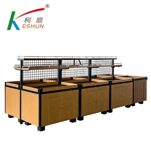 China Factory Custom Design Made Wooden Fruit Vegetable storage Display Rack For sale