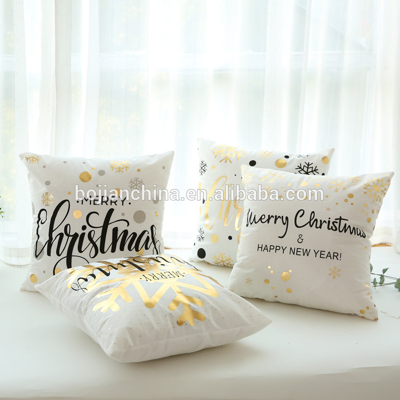 Etsy popular best selling shinny cushion high quality polyester pillow  cover 110g alphabet custom pillowcase christmas gift, View shinny cushion,