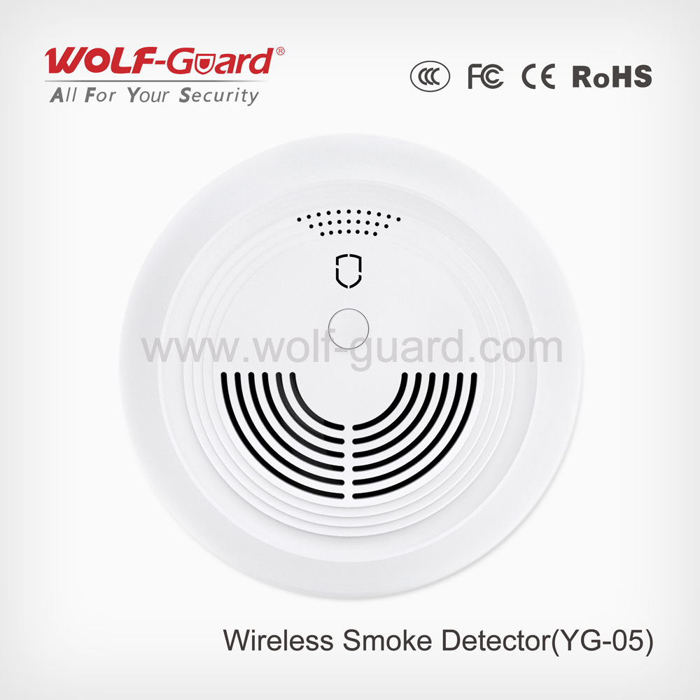 Wolf Guard Wireless Wired Smoke Detector Sensor Yg 05 Buy Security Contacts Wiring Series Detectorwireless Sensorchip Product On