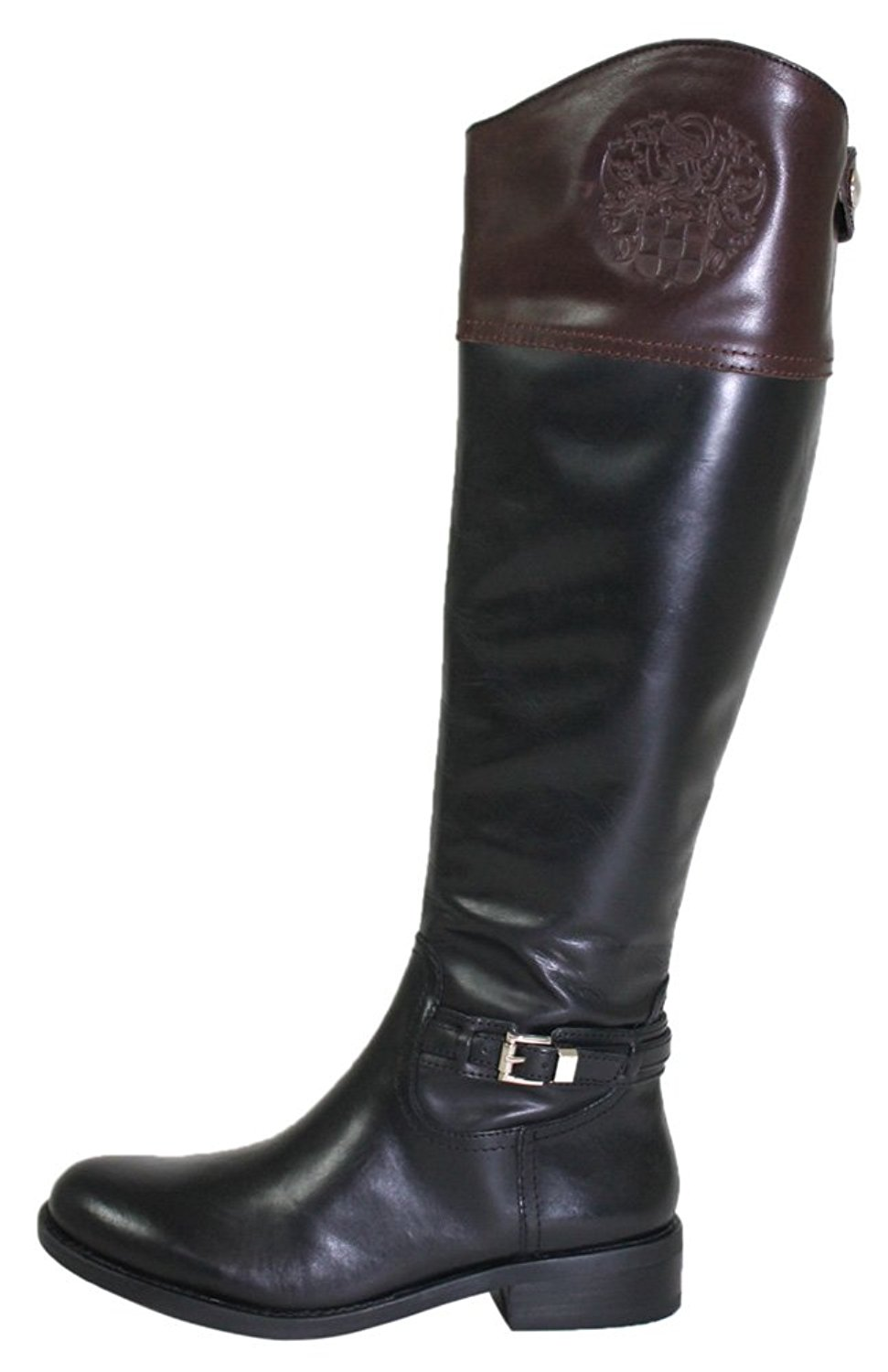41ccd533fd8ef Get Quotations · Vince Camuto Kable Wide Calf Women US 7.5 Black Mid Calf  Boot