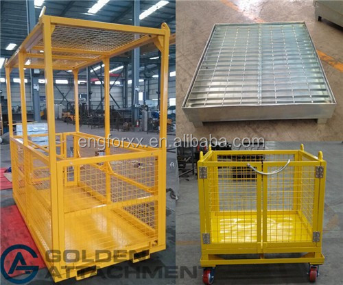 Crane Work Platform cage forklift attachment crane jib