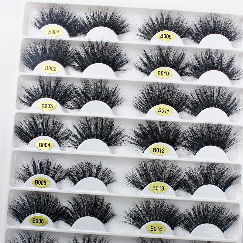 Custom Package 25 mm 3d Mink Eyelashes Wholesale Vendor Mink Lashes 6d Private Label, Black