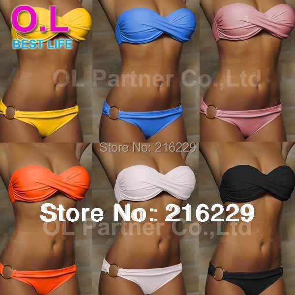 Newest Summer Sexy Bikini Women Swimwear Fashion Occidental Secret Beach Swimsuit 10 Colors S M L