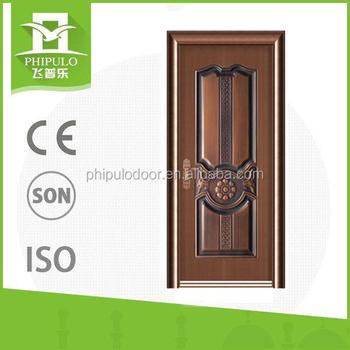 Latest Design Steel Safety Doors Main Gate Single Door