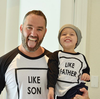 Europe Style Dad And Son Funny Matching Shirts Family Matching Outfits Parent Child Clothing