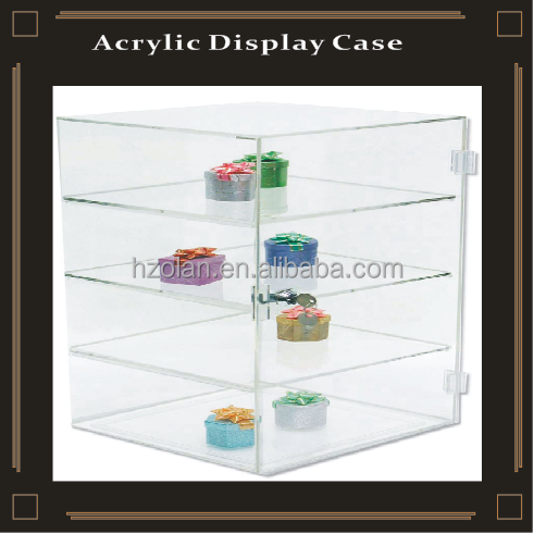 acrylic 4 tires jewelry display case/Christmas gift display trunk/Box Toy Display Stand