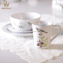 16pcs Bird Design Ceramic Dinnerware Dinner Set