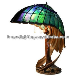 FT-20286 Tiffany Style Stained Glass Flying lady Pedestal Desktop large hotel project table lamp