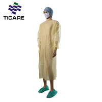 Yellow Disposable Waterproof Isolation Gown