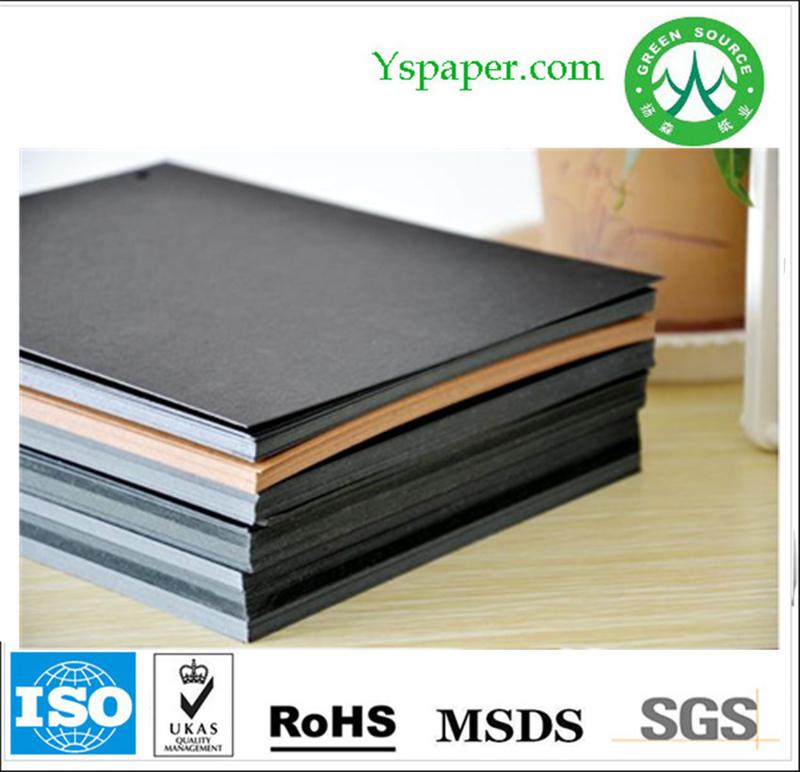 Aa Grade Pure Wood Pulp Black Carton Board Black Cardboard Paper ...