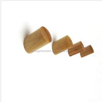 china factory FSC&SA8000 bedroom Simple Natural Oak Wooden Wall Hook Clothes Coat Hat Rack Hangers & Hooks
