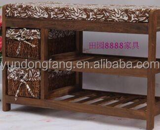 Stile vintage sgabello in legno pouf arredamento per negozio di