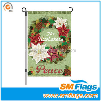 Popular House Decorate Garden Flag Cheap Custom Garden