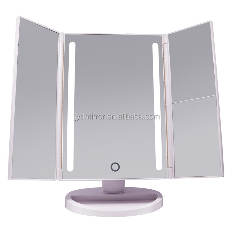 Led Lighted Makeup Mirror With Detachable 10x