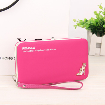 PIDANLU 2018 new style women's wallet with handle strap,High-heeled shoes Pen box wallet for lady