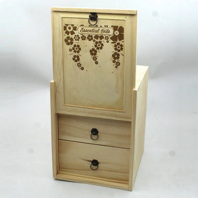 Custom wooden gift boxes with clear sliding lid box