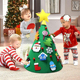Christmas Gift 3D Kids DIY Toddler Felt Christmas Tree For Home Decoration