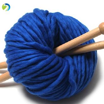 Wholesale Colored 8cm Chunky Merino Wool Yarn For Hand Knitting