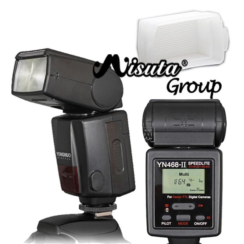 Yongnuo YN468 II ю . н . 468 II YN-468 II TTL ETTL flash-speedlite для Canon EOS 600D 550D 500D T3i T2i камера с бесплатной каменным Diffsuer