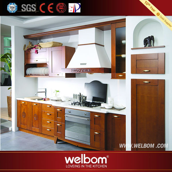 Quality-assured professional made kitchen cabinet with appliances