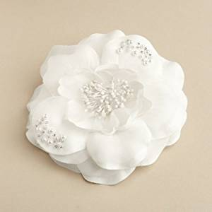 Cheap white flower for hair wedding find white flower for hair get quotations wedding hair flower clip in diamond white silk by mariell designs mightylinksfo