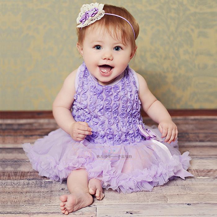 Czeshop Images Cute Babies With Purple Dress