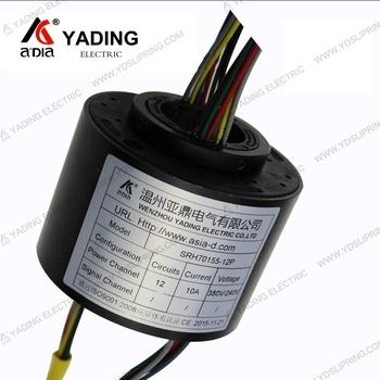 Srh70155-12p Hole Size 70mm 12 Channels Customized Slip Ring For Cable Reel  - Buy Slip Ring For Cable Reel,Customized Slip Ring,Srh70155-12p Product